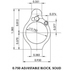 Superlative Arms Bleed Off Adjustable AR15 Gas Block